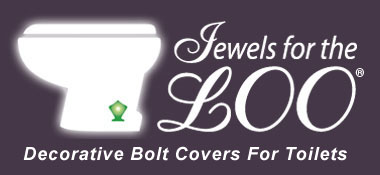 Decorative Bolt Covers for Toilets - by Jewels For The Loo