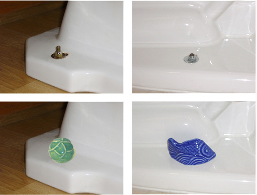 Easy Install for Jewels For The Loo - Designer Floor Bolt